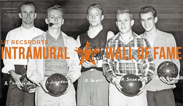 Bowling, Champions Campus Guild Back Row (L-R):  A. Carmichael, L. Johnson, B. Scott Front Row:  R. Sharp, P. McDonald