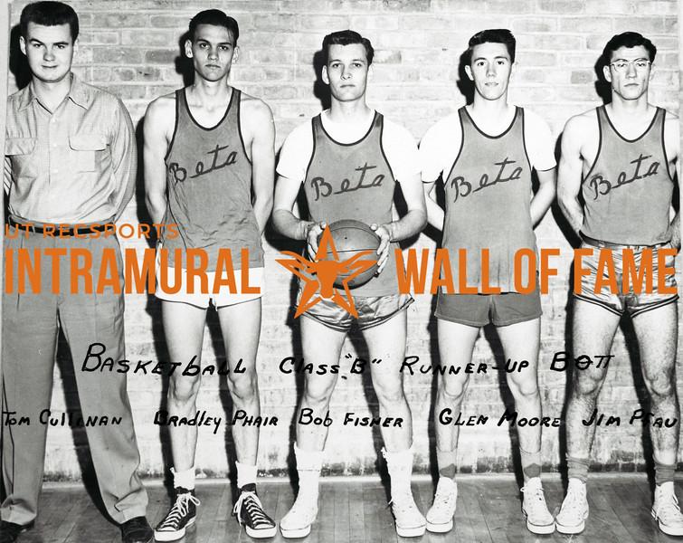 Basketball, Class B Runner-Up Beta Theta Pi Tom Cullinan, Bradley Phair, Bob Fisher, Glen Moore, Jim Pfau