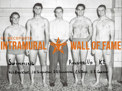 Swimming, Runner-Up Kappa Sigma Wilfred Rankine, Ronnie Templeton, Dave Fennekohl, Charles Boyd, Fallon Gordon