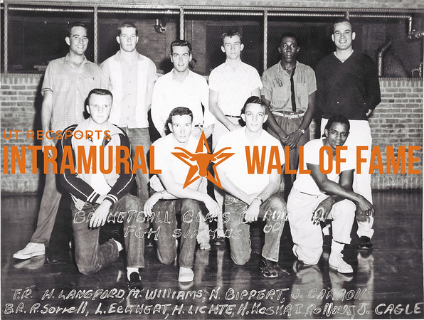 Basketball, Class B Runner-Up FGH Simkins Front Row (L-R):  Howard Langford, Monte Williams, Nelson Bippert, John Carroll Back Row:  Robert Sorrell, Lawrence Eckert, Henry Lichte, Herschel Koska, Ervin Rollins, Joe Cagle