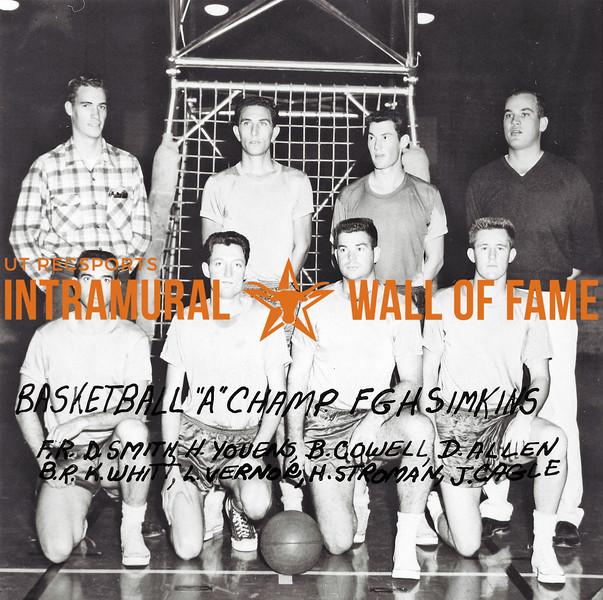 Basketball, Class A Champion FGH Simkins Front Row (L-R):   Duane Smith, Harry Youens, Billy Cowell, Richard Allen Second Row: Kenneth Whitt, Lamond Verner, Hilton Stroman, Joe Cagle