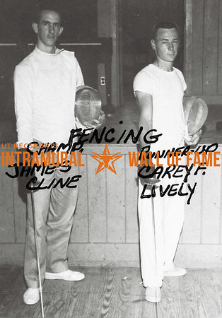 Fencing Champion: James Cline Runner-Up: Carey F. Lively
