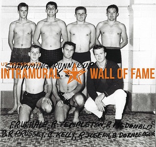 Swimming, Runner-Up Kappa Sigma Front Row: Thomas Weldon Hale, J. Rodney Templeton, Roderick Morrison McDonald Back Row: Charles Bennet Russey, William Carroll Kelly Jr., Harold Russell Joseph, Werner William Dornberger Jr.