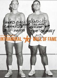 Handball Singles, Summer School Champion, Bill Fritts Runner-Up, Tom Blakely