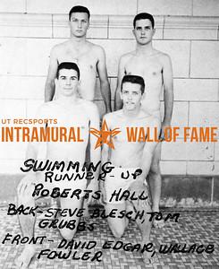Swimming  Runnerup Back:  Roberts Hall, Steve Blesch, Tom Grubbs,  Front:  David Edgar, Wallace Fowler