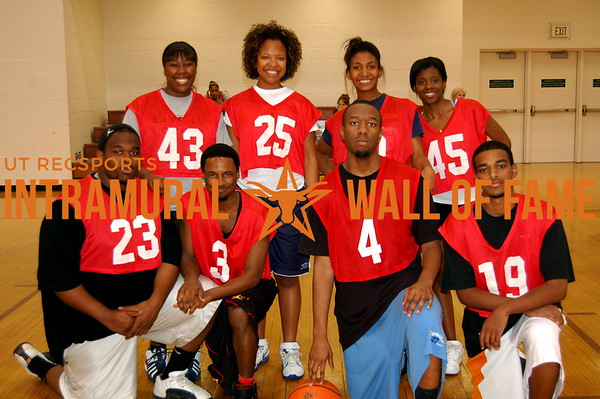 BASKETBALL Coed Orange A Runner-Up  Team Dallas  R1:  Gerald Kossie, Gregory Clark, Chad Stanton, Thomas Isac R2: Monica Gray, Tiffany Mitchell, Devin Daniel, Lashauntee Campbell
