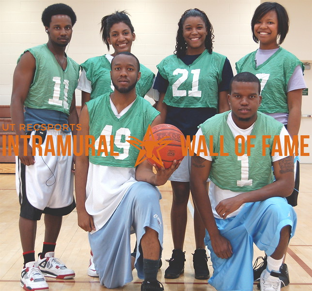 BASKETBALL Coed A Runner-Up  TEAM DALLAS  R1: Antoine Height, Paul Washington R2: Greg Clark,  Devin Daniel, Alicia Huff, Tiffani Mitchell  Not Pictured: Monica Gray