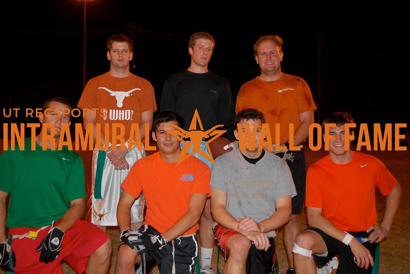 FLAG FOOTBALL<br /> White C Runner Up<br /> <br /> Show Me Your TD's<br /> <br /> R1: Eric Anderson, William Rojas, Joshua Clark, Nicholas Freidberg <br /> R2: Will Brown, Christopher Bricker, Kurt Miller<br /> Not Pictured: Andrew Altman, Brian Hudson