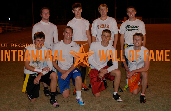 FLAG FOOTBALL Orange B Runner Up  Hold My D-Fence  R1: Clay Modgling, Ian O'donnell, Travis Strahan, Michael Meller R2: Chris Giron, Christopher Toups, Kevin Carlson, Steven Hanley
