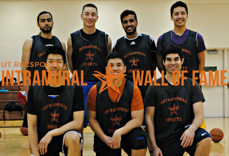 BASKETBALL 6ft and Under Runner Up  Team names too mainstream  R1: Quoc Nguyen, Jules Gonzalvo, Jonathan Tovar R2: Hamza Badat, Joseph Scammerhorn, Mohammad Chauhan, Anthony Nguyen Not Pictured: Talal Halawe, Ajit Singh, Kevin Swan