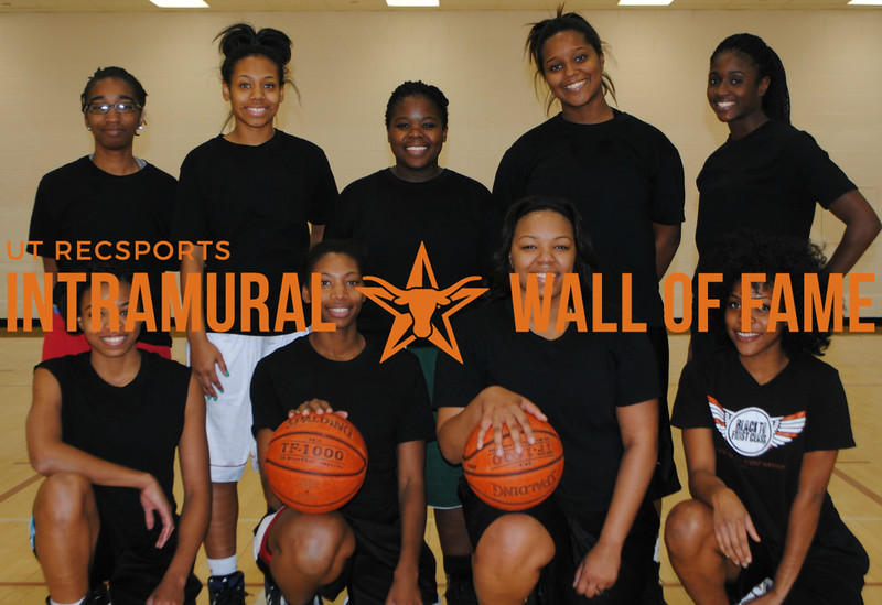 FALL BASKETBALL<br /> Women's Runner Up<br /> <br /> Lady Hoopers<br /> <br /> R1: Michaela Noble, Tiara Fizer, Kiara Truitt-Chambers, Kristeen Onyirioha <br /> R2: Jamesha Chapple, Kendall Brookins, Jade Ware, Kimberly Lewis, Chardai Thomas<br /> Not Pictured: Taylor Carr