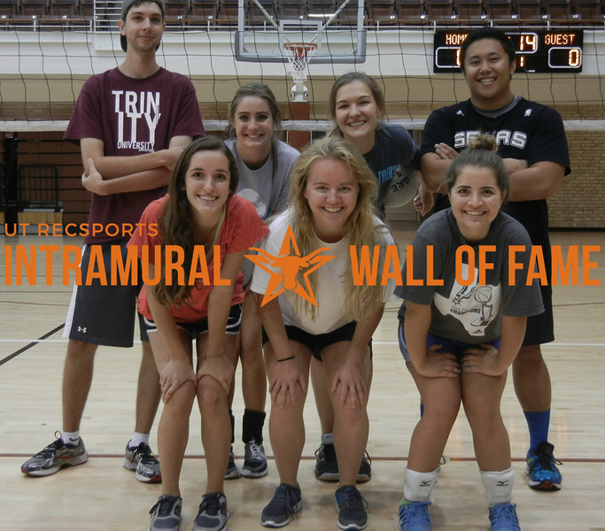 SUMMER VOLLEYBALL Runner Up  The Ace Up Our Sleeve  R1: Kelsey Wenzel, Samantha Finkenstaedt, Mary Kate Hoffman R2: Thomas Coverdale, Alexandra Taggart, Julia Tamsma, Albert Bedia