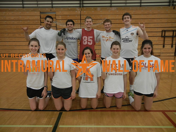 INDOOR SOCCER Coed A Runner Up  Victorious Secret  R1: Stephanie Yarborough, Colby Hassfurther, Kimberly Kurtin, Lindsay Caram, Sadie Liebman R2: Jake Leitner-Zieff, Liron Kishinevsky, Alex Heyman, Aaron Stern, William Hall