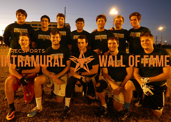 FLAG FOOTBALL Greek Council Runner Up  Lambda Chi  R1: Cody Stewart, Trevor Marlar, Joshua Sharer, Alec Stephenson, Brian Buchanan R2: Carlo Antoniolli, Trevor Vega, Edward Lascala, Francisco Medrano, Robert Tolle, Collin Fish, Andrew Adlof