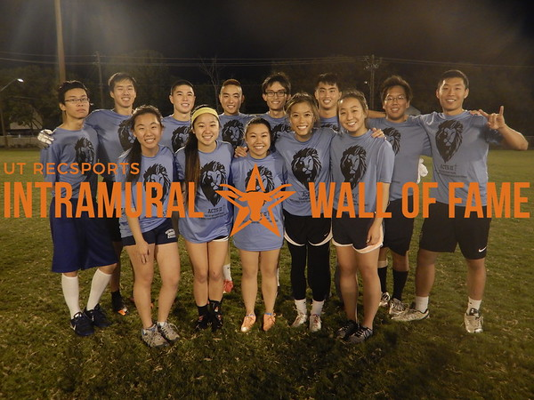 FLAG FOOTBALL Coed B Runner Up  AACM 9  R1: Grace Liu, Elizabeth Chung, Michelle Pham, Joy Mong, Seung Lee R2: Eugene Ng, Nathan Hsu, Nicholas Acosta, Frank Li, Timothy Lee, Kevin Yates, Daniel Yang, Ted Kim Not Pictured: Ezekiel Hsieh, Kevin Wong