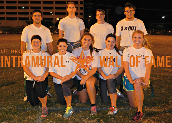 FLAG FOOTBALL Coed C Runner Up  The Walk-Ons  R1: Lauren Kelley, Kaylee Lyssy, Heather Rocha, Tori Guzman, Jillian Balser R2: Braden Lyssy, Sean Price, Jay Hutson, Charles Tuppen Not Pictured: Christopher Akin
