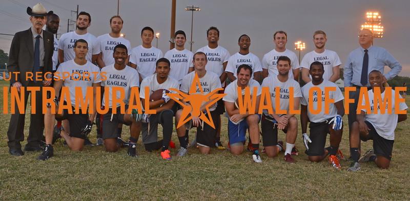 Fall 2015 Flag Football Graduate Champion Legal Eagles