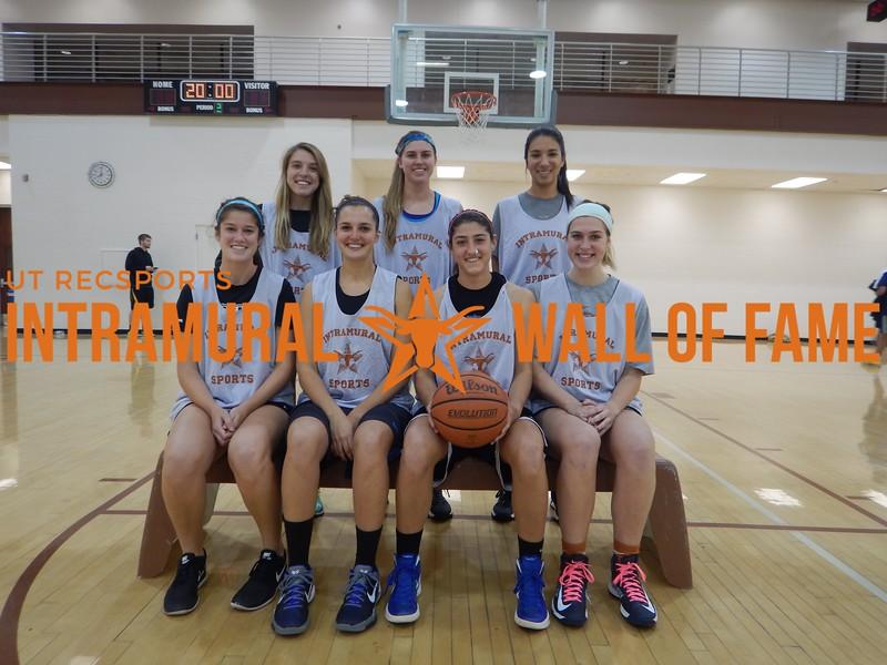 Fall 2015 Basketball Women's Champion Prosers