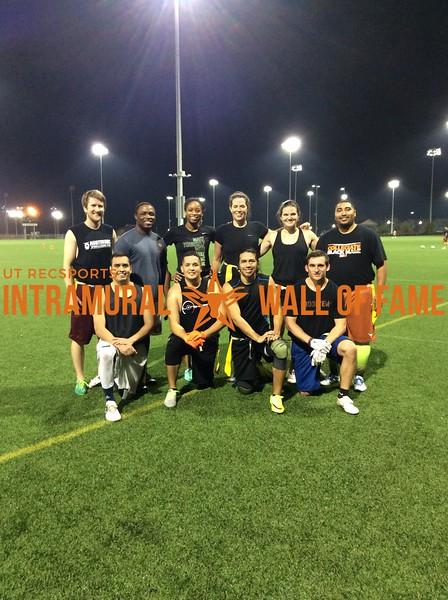 Fall 2017 Flag Football Graduate Coed Champion NWO Wolfpac
