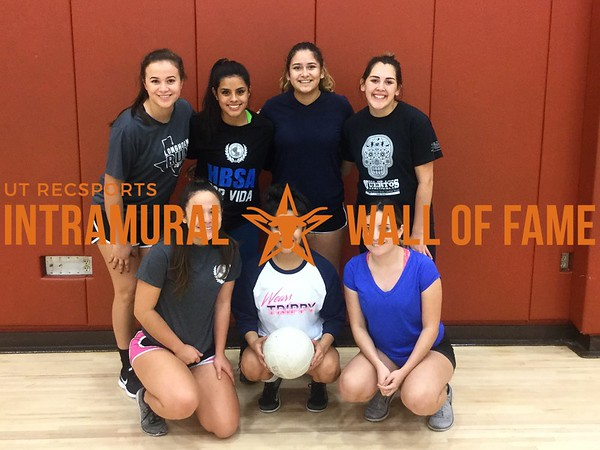 Fall  2017 Volleyball Women's B Champion Tap that ace