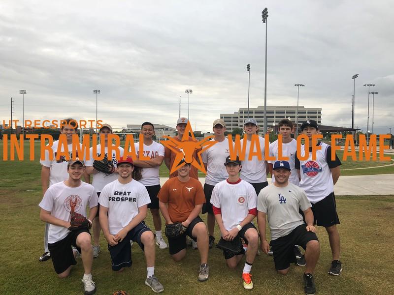Spring 2018 Softball Men's A Runner Up Average Joe's