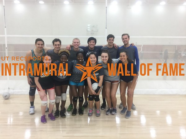 Fall 2017 Volleyball Coed B Runner Up Served Hot