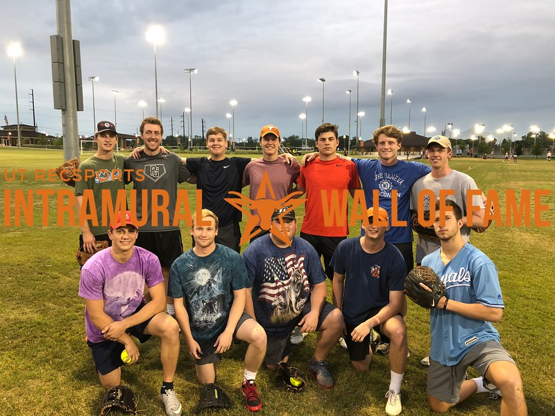 Spring 2018 Softball Fraternity Runner Up Sigma Chi