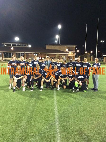 Fall 2017 Flag Football Graduate Champion Legal Eagles