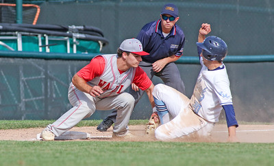 no.5, Grant Shulman Wall baseball v/s West Morris in the NJSIAA Group III final in Hamilton, NJ on 6/8/19. Final: 10-2 Wall [DANIELLA HEMINGHAUS | THE COAST STAR]
