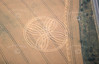 Crop circle from the air.