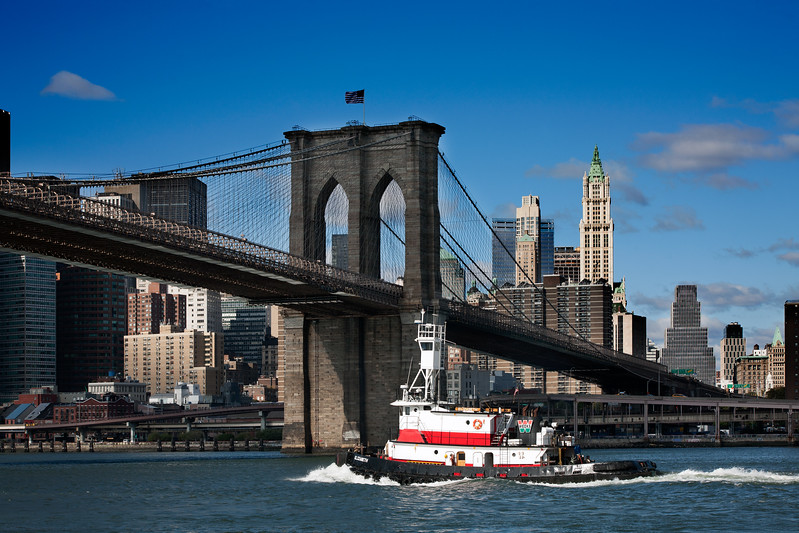 view of Brooklyn Bridge, New York