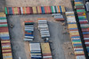 Aerial Photo of shipping containers.