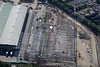 Aerial photo of a new steel building being erected near Kirton Nottinghamshire.