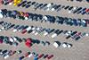 A stock aerial photo of a car park.
