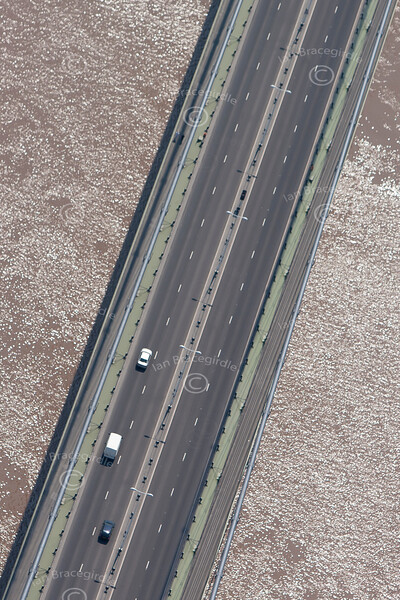 The Humber Bridge from the air.
