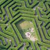 Aerial photo of a maze. Photo
