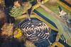 Aerial photo of a maze.