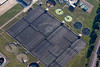 aerial photo of a sewage farm.