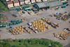 An aerial photo of heavy plant machinery near Ollerton in Nottinghamshire.