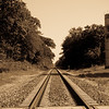 Railroad tracks, vanishing lines