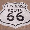 Historic Route 66 sign on road