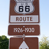 Route 66 sign, 1926-1930