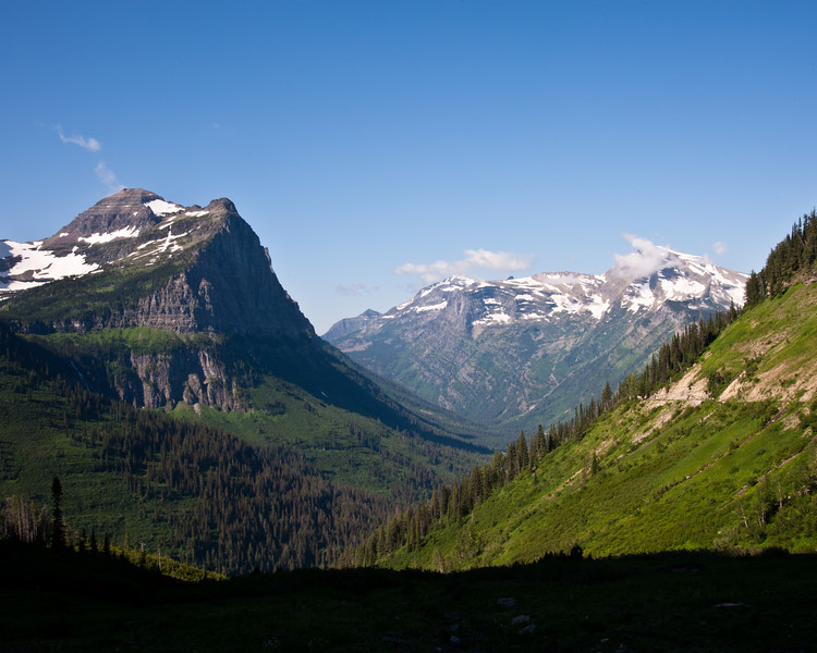 snow capped mountains, glacier park