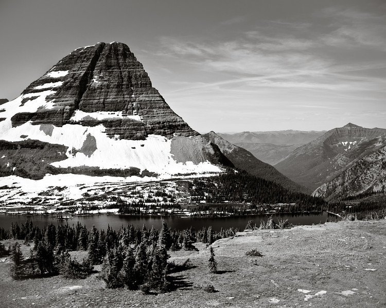 Glacier National Park, mountain, snow-capped, hidden lake