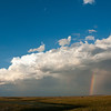 Midwest storm, rainbow