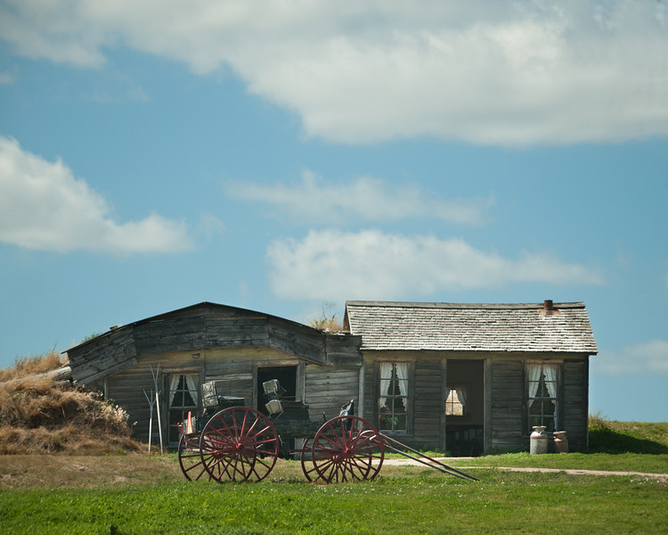 Old homestead, western prairie