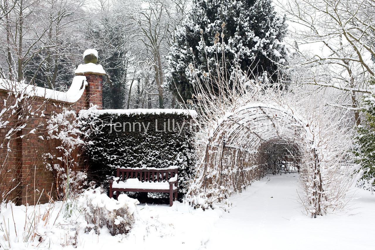Winterbourne Botanic Garden in snow
