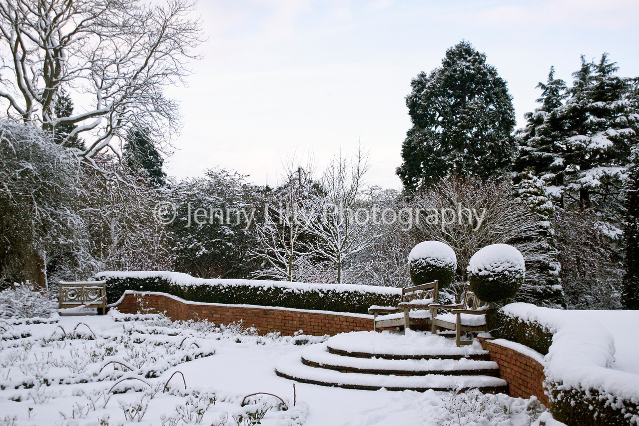 Birmingham Botanical Gardens in snow