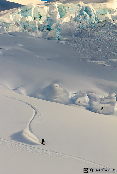 Jesse Reis, binderless powder surfing |<br /> Jarvis Glacier, SE Alaska | 18, March 2013
