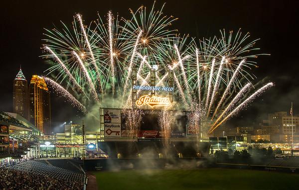"""Fireworks at Progressive Field.<br /> Print Size: 24x16"""""""